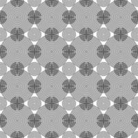 padrão de círculos pretos concêntricos sem emenda vetor
