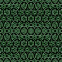 padrão de nó celta verde e preto sem costura vetor