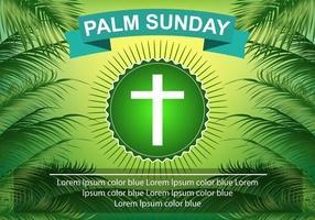 Modelo Palm Sunday Green Palm Leaf vetor