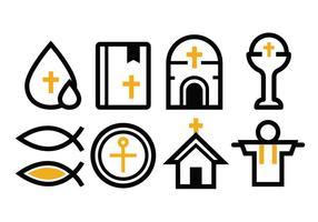 Conjunto de ícones de reilgão grátis vetor