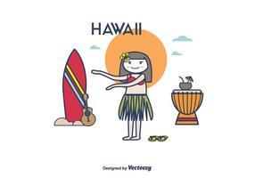 Vetor havaiano