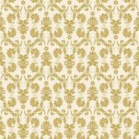 sem costura ornamentado ouro amarelo damasco padrão vetor