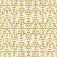 damasco decorativo ouro sem costura vetor