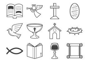 Livre cristão ícone da religião vetor