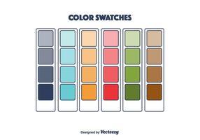 Vector de amostras de cores