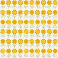 padrão sem emenda de flor de laranja e amarelo vetor