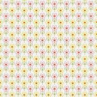 padrão sem emenda de flores simples contorno vetor