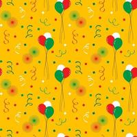 padrão sem emenda de cinco de maio balões e fogos de artifício vetor