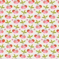 padrão sem emenda de cerejas retrô vetor