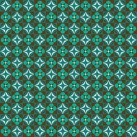 retro azul e marrom floral geométrico padrão sem emenda vetor