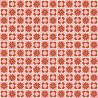padrão sem emenda de azulejos retrô flor rosa vetor