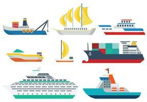 Vector de ícones de navios grátis