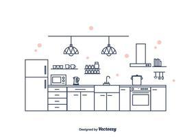 Cozinha Interior Vector