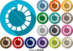 Conjunto de vetores de ícones do pré-carregador