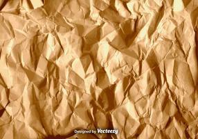 Textura de papel amassada marrom vetor