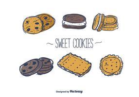 Vetor de biscoitos doces