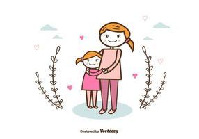 Mãe e criança fundo vetor