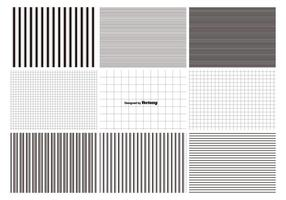 Conjunto de padrões de linhas e grades vetor