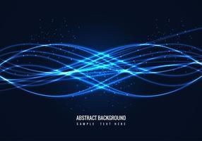 Vector livre abstrato brilhante fundo onda azul