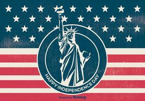 Ilustração retro do Dia da Independência do Estilo vetor