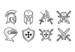 Vector de ícones medievais grátis