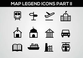 Legenda do mapa grátis II vetor da legenda