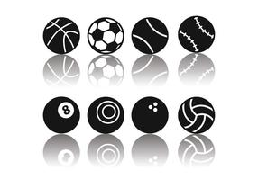 Ícones de bola de esporte minimalista grátis vetor