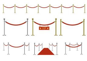Vector de corda de veludo grátis