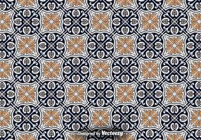 Piso de azulejo - Padrão vetorial ornamental vetor