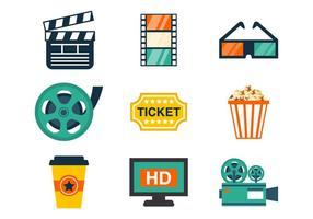 Vetor de ícones de cinema grátis