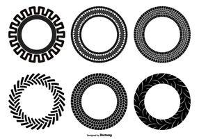 Conjunto de formas de pneu Tractor vetor