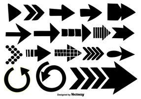 Coleção de flechas desenhadas a mão - elementos vetoriais vetor