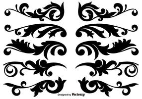 Scroll Works Design, Decorative Decorative Vector Elements
