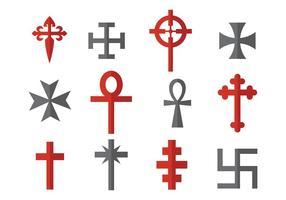 Vetor de ícones templários grátis