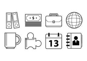 Vetores de ícones de escritório e negócios gratuitos