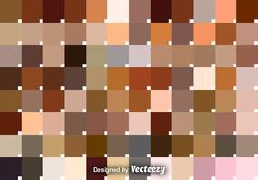 Conjunto vetorial de amostras de tom de pele vetor