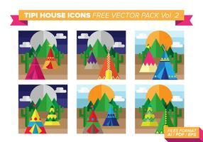 Tipi house icons pacote de vetores grátis vol. 2