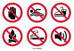 Conjunto de ícones proibidos vetor