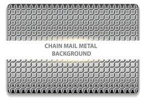 Chainmail metal sem costura vetor