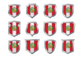 Bandeira da bandeira de Peru vetor