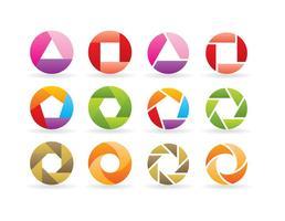 Logos de Rotação vetor