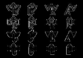 Ícones do vetor Ganesh