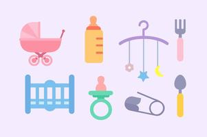 Vector grátis de elementos para bebês