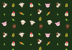 Vector de padrões de animais de fazenda grátis
