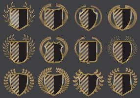 Blason shields vetor