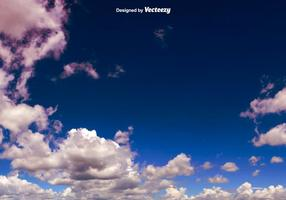 Vector Céu azul escuro com nuvens