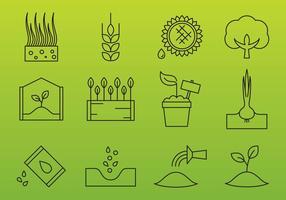 Ícones da Indústria Agrícola vetor