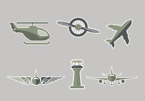 Vetor de símbolo de avião