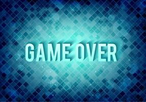 Mensagem de pixel vetorial grátis: o jogo acabou