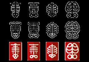 Ícones do vetor Ribcage